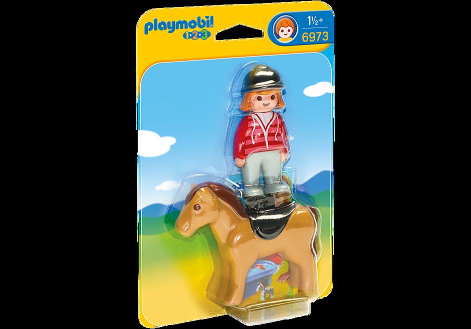 6973 Reiterin mit Pferd detail image 2