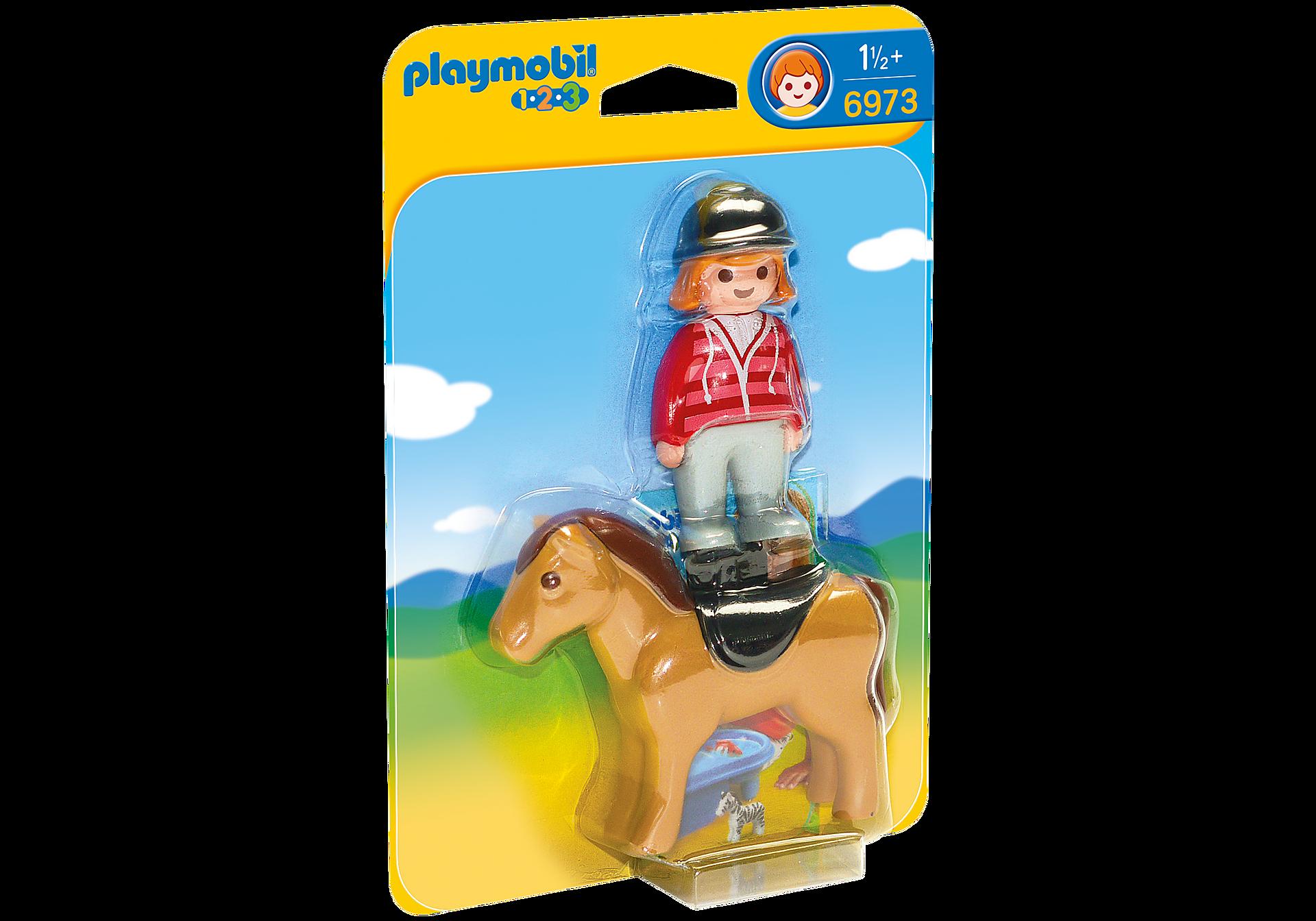 6973 Reiterin mit Pferd zoom image2
