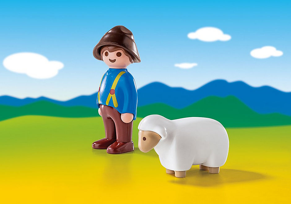 6974 Shepherd with Sheep detail image 1