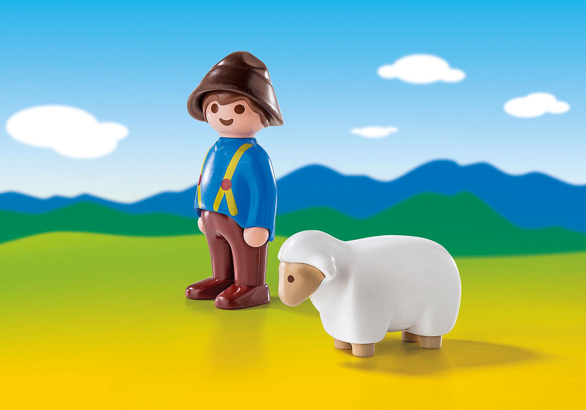 6974 Shepherd with Sheep zoom image1