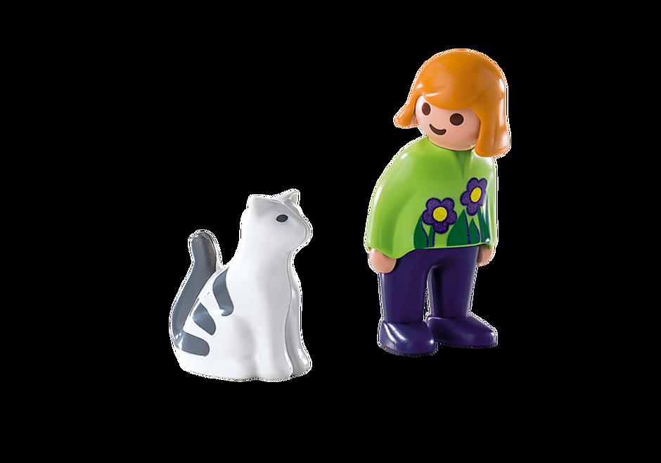 6975 Frau mit Katze detail image 3