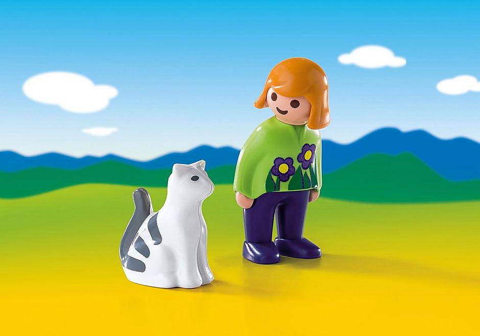 6975 Frau mit Katze detail image 1