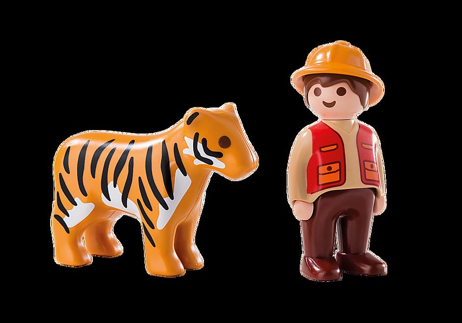 6976 Wildhüter mit Tiger detail image 3