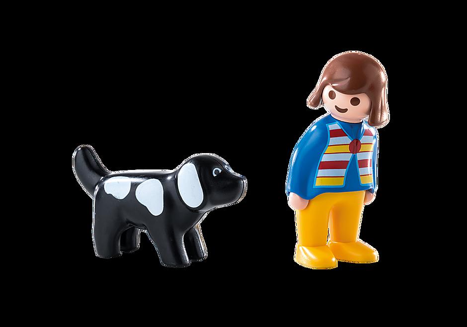 6977 Frau mit Hund detail image 3