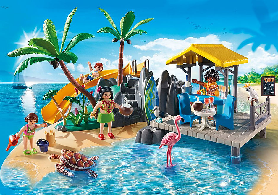 6979 Karibikinsel mit Strandbar detail image 1