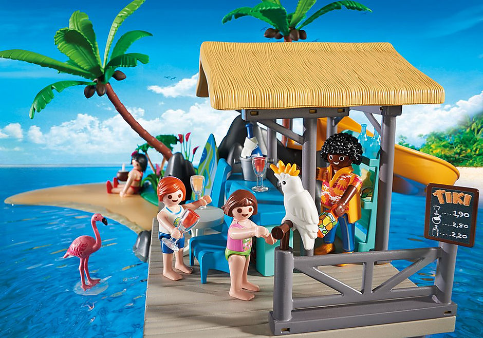 6979 Karibikinsel mit Strandbar detail image 6