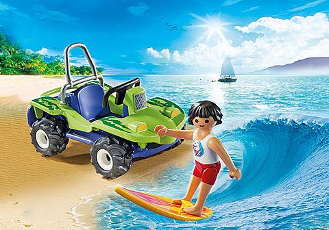 6982 Surfer mit Strandbuggy