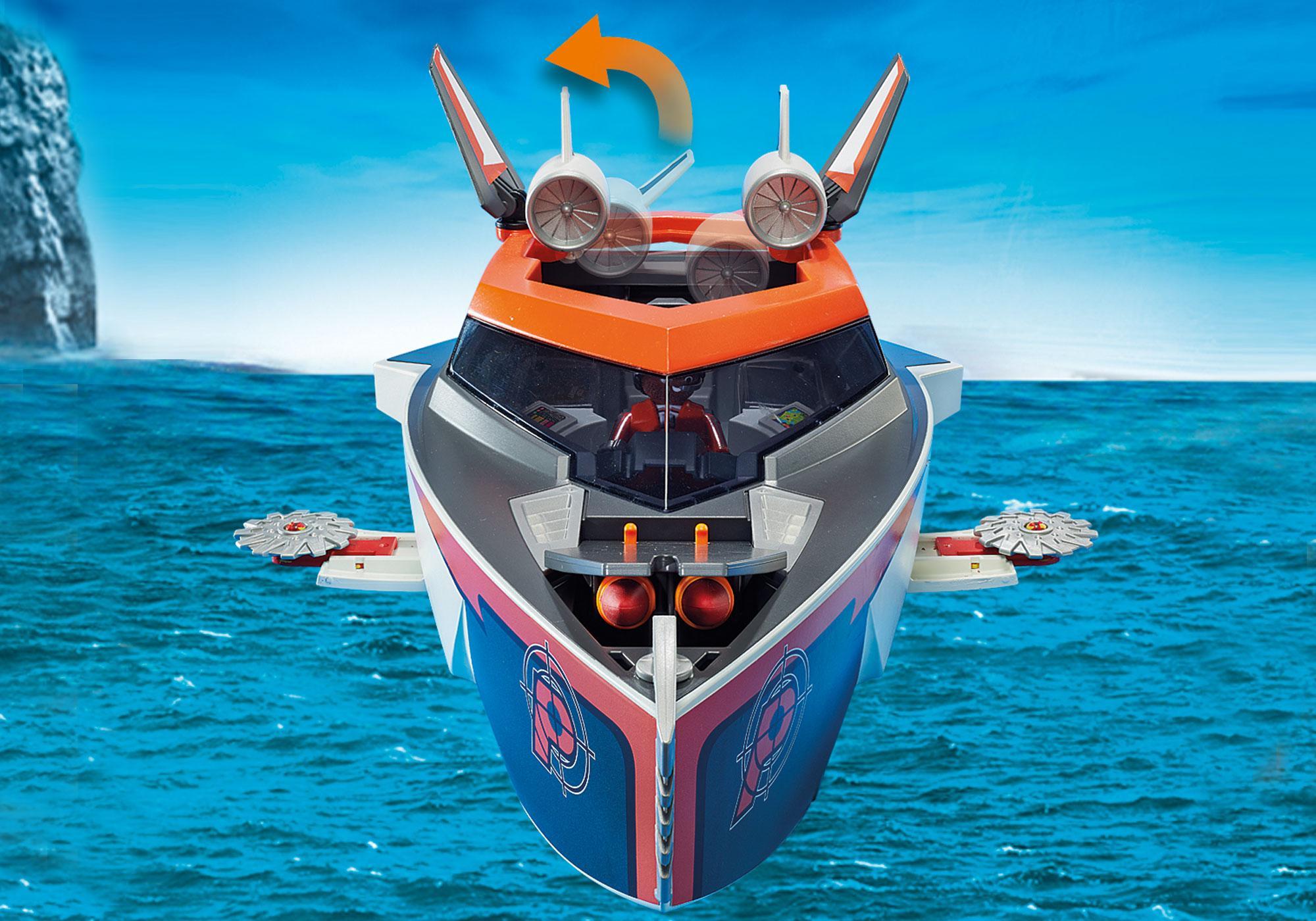 http://media.playmobil.com/i/playmobil/70002_product_extra4/SPY TEAM Turbobåt
