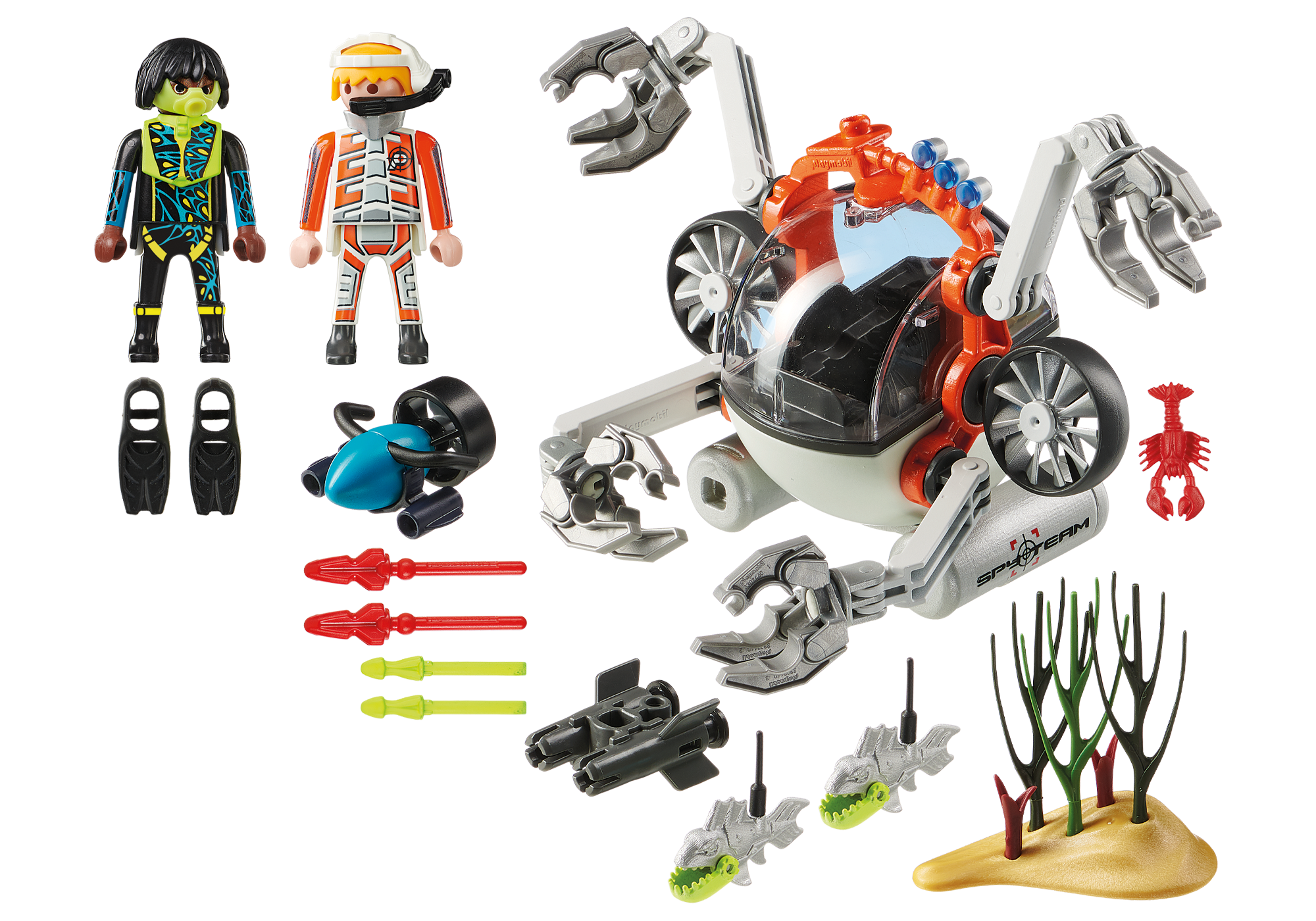 http://media.playmobil.com/i/playmobil/70003_product_box_back/Robot sous-marin Spy Team