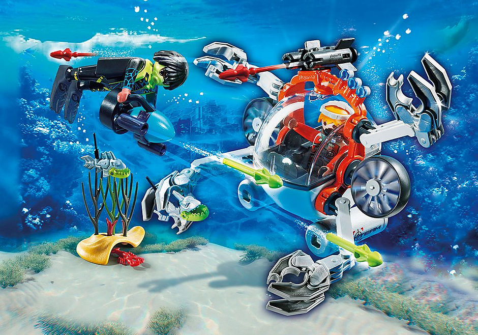 http://media.playmobil.com/i/playmobil/70003_product_detail/Spy Team Bemande onderwaterrobot