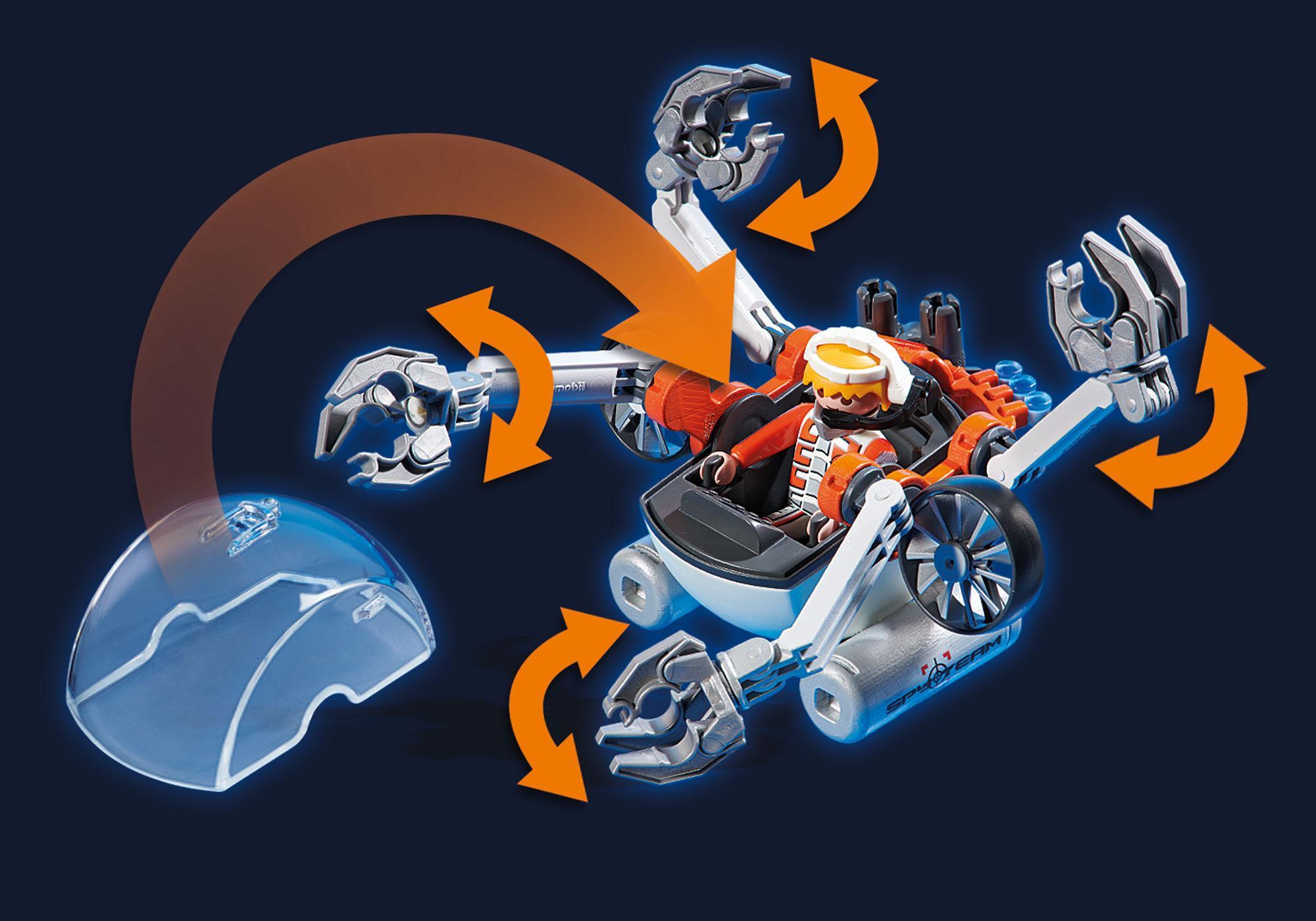 http://media.playmobil.com/i/playmobil/70003_product_extra1/Spy Team Bemande onderwaterrobot