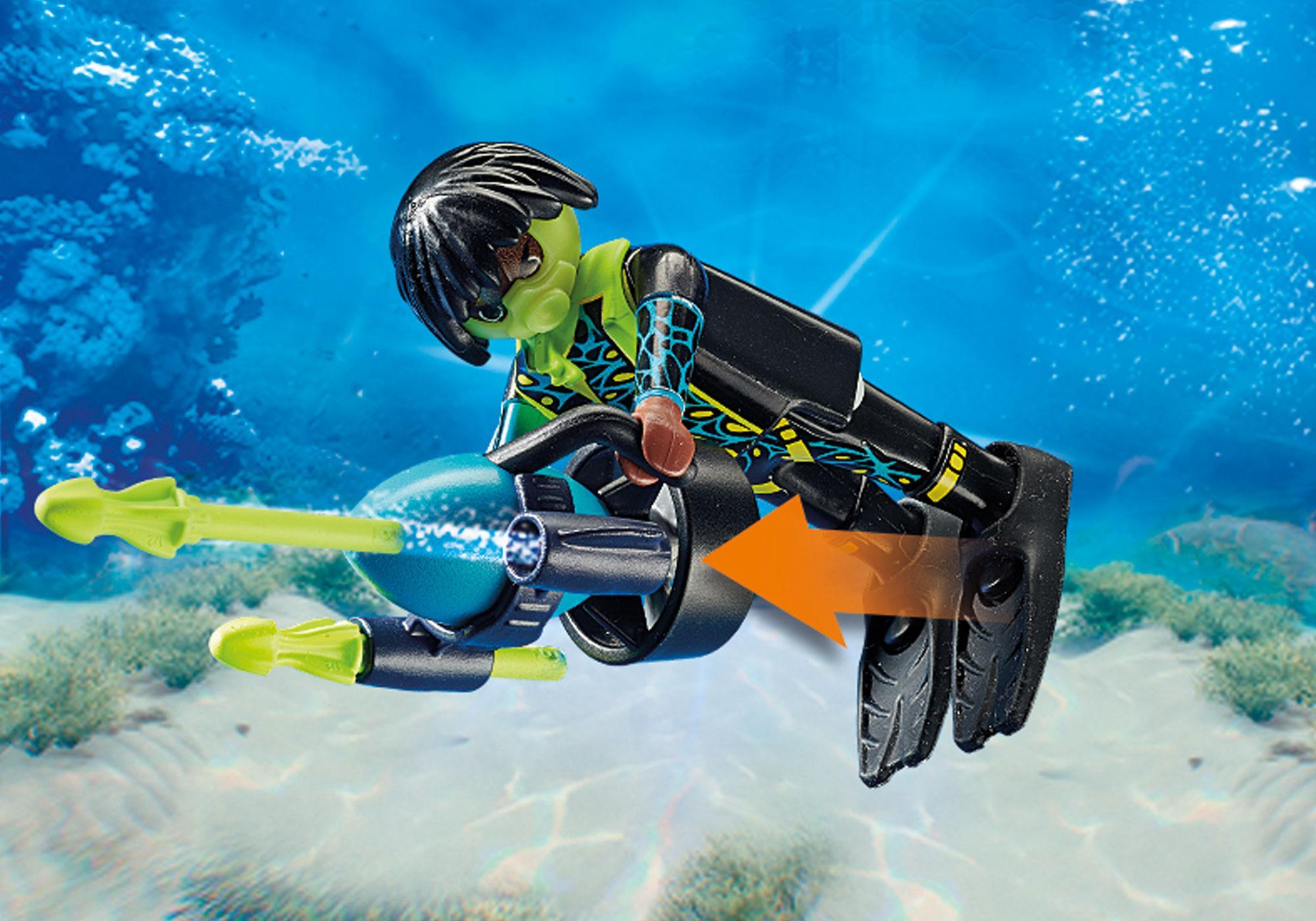 http://media.playmobil.com/i/playmobil/70003_product_extra2/Spy Team Bemande onderwaterrobot