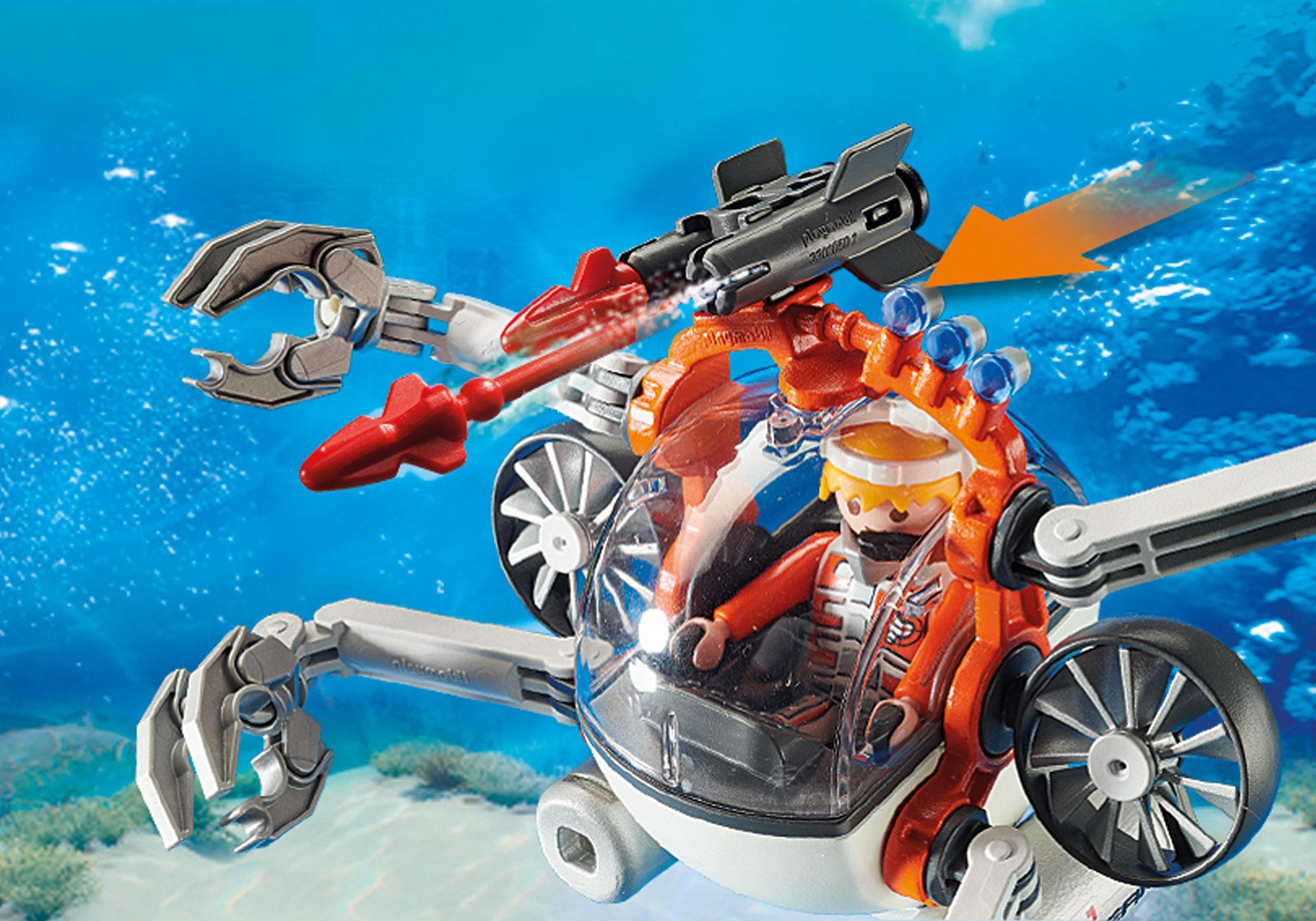 http://media.playmobil.com/i/playmobil/70003_product_extra3/Spy Team Bemande onderwaterrobot
