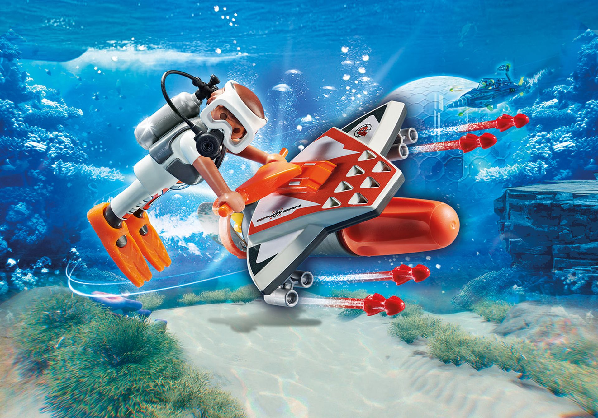 Playmobil 70004-Top-agents-Spy Team underwater Wing