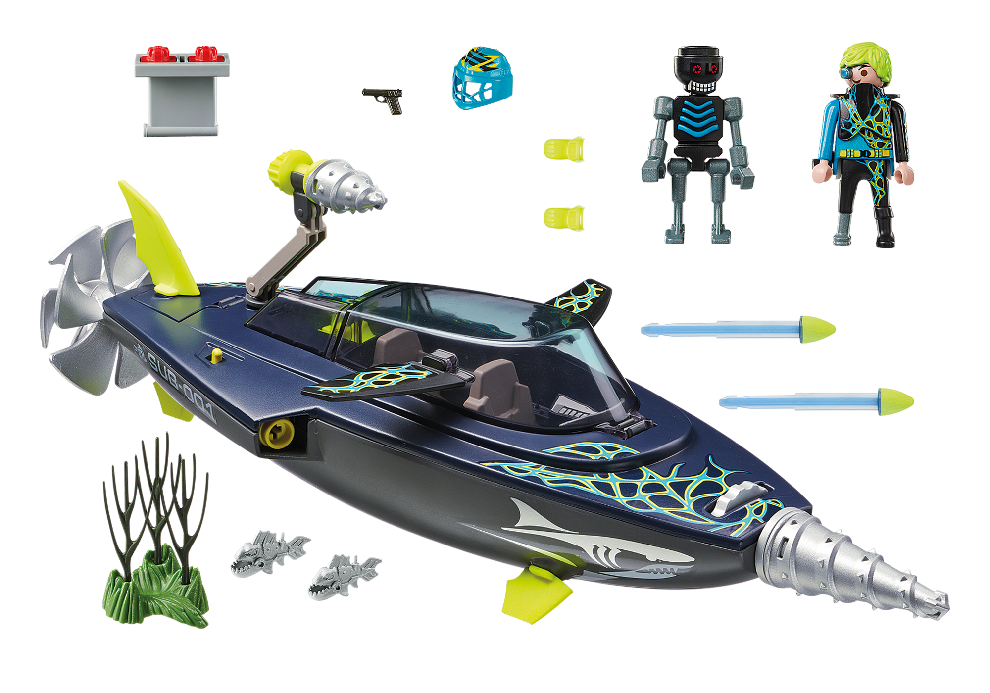 http://media.playmobil.com/i/playmobil/70005_product_box_back/TEAM S.H.A.R.K. Drill Destroyer