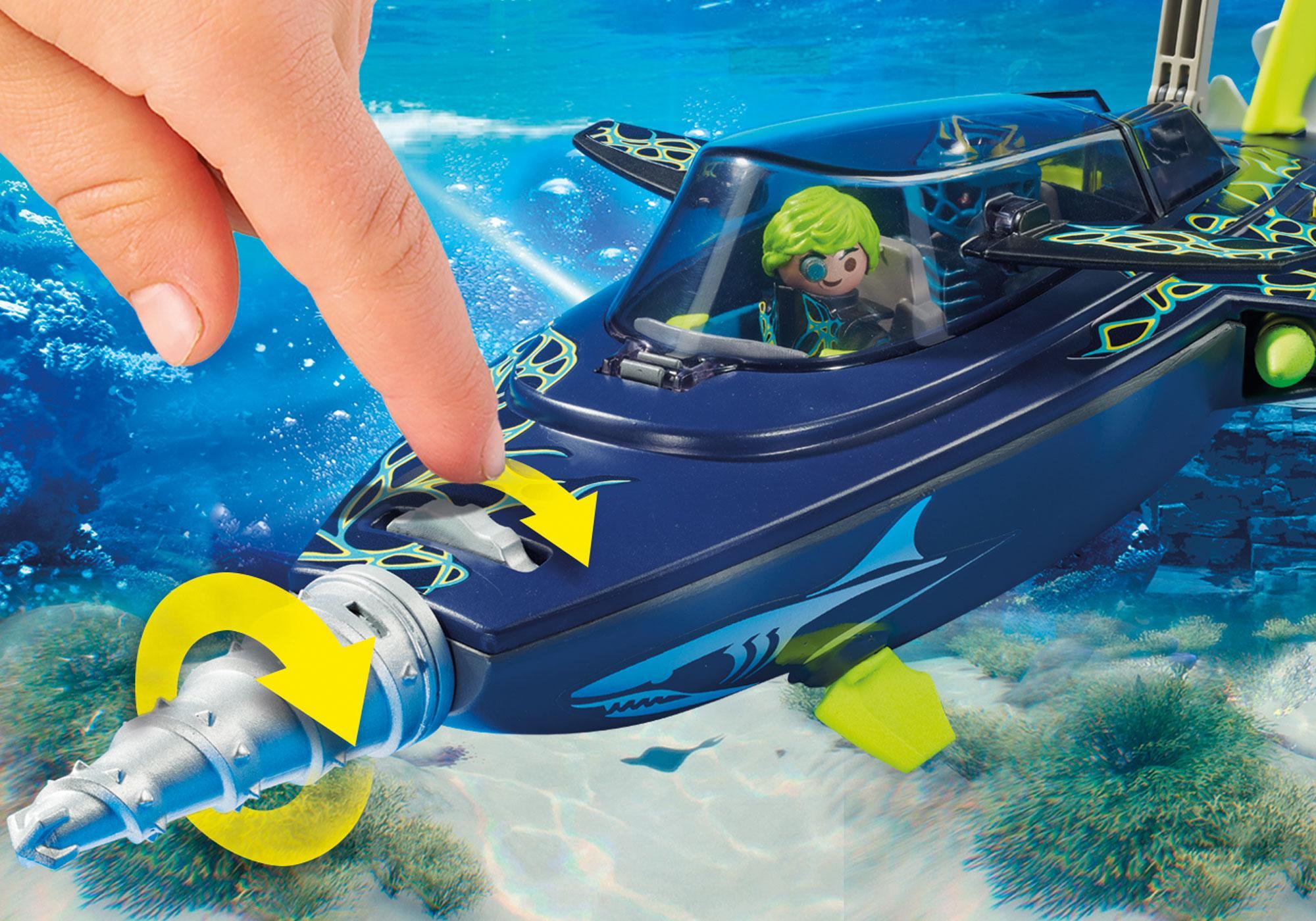 http://media.playmobil.com/i/playmobil/70005_product_extra4/Sottomarino da assalto del Team S.H.A.R.K.