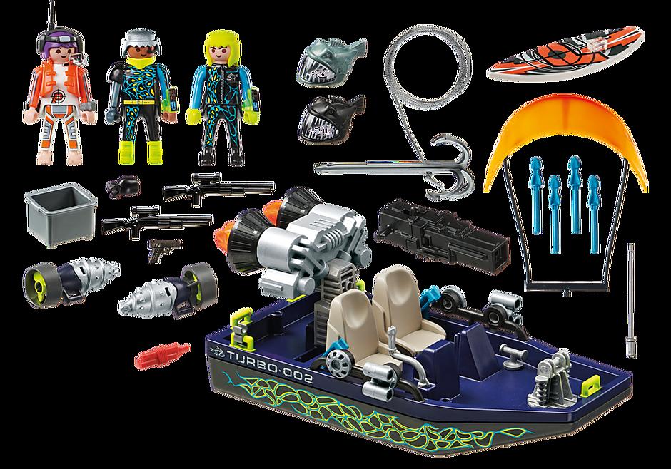 70006 Ταχύπλοο της SHARK Team και Kitesurfer  detail image 3