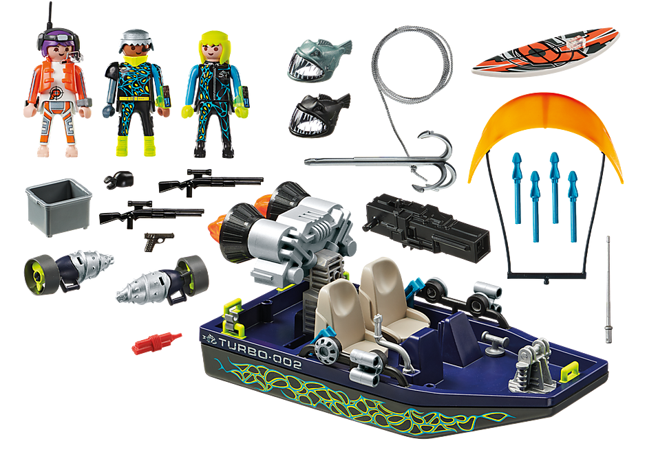 http://media.playmobil.com/i/playmobil/70006_product_box_back/Team S.H.A.R.K. Harpoenboot