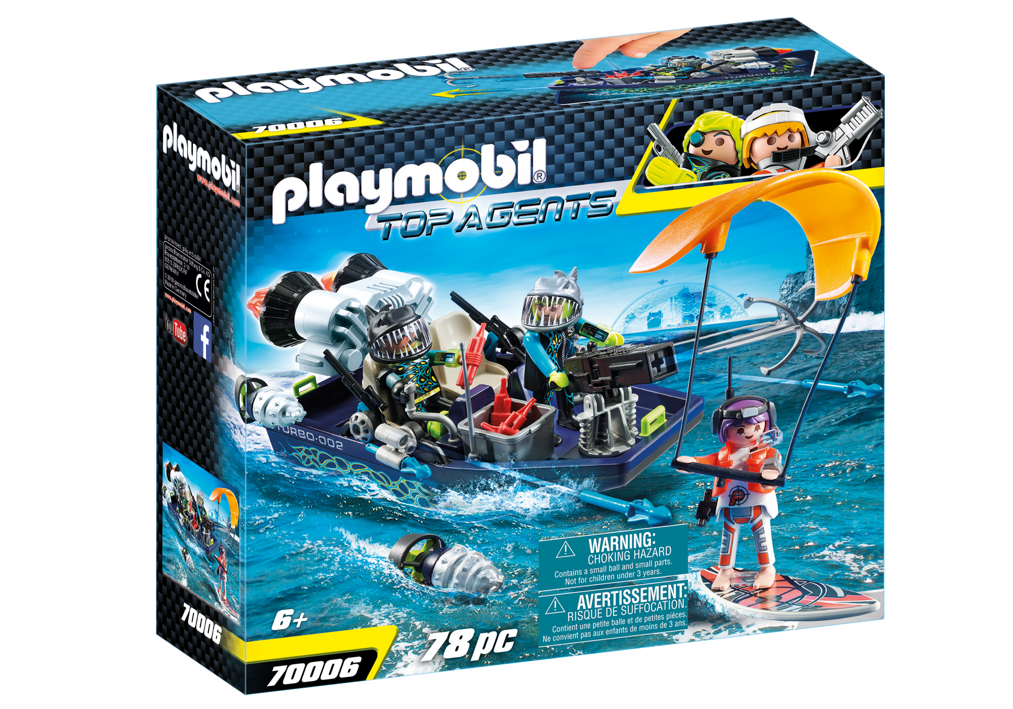 http://media.playmobil.com/i/playmobil/70006_product_box_front/Team S.H.A.R.K. Harpoenboot
