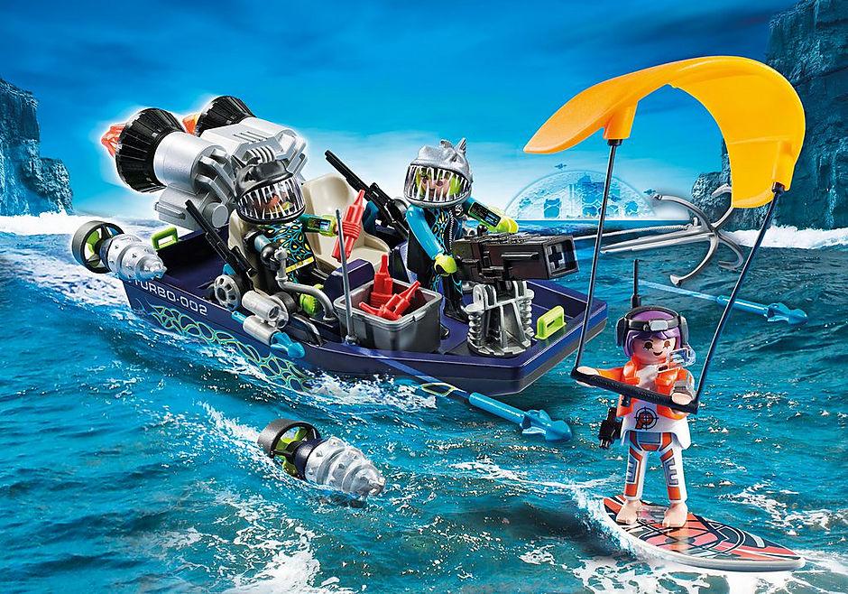 70006 Ταχύπλοο της SHARK Team και Kitesurfer  detail image 1