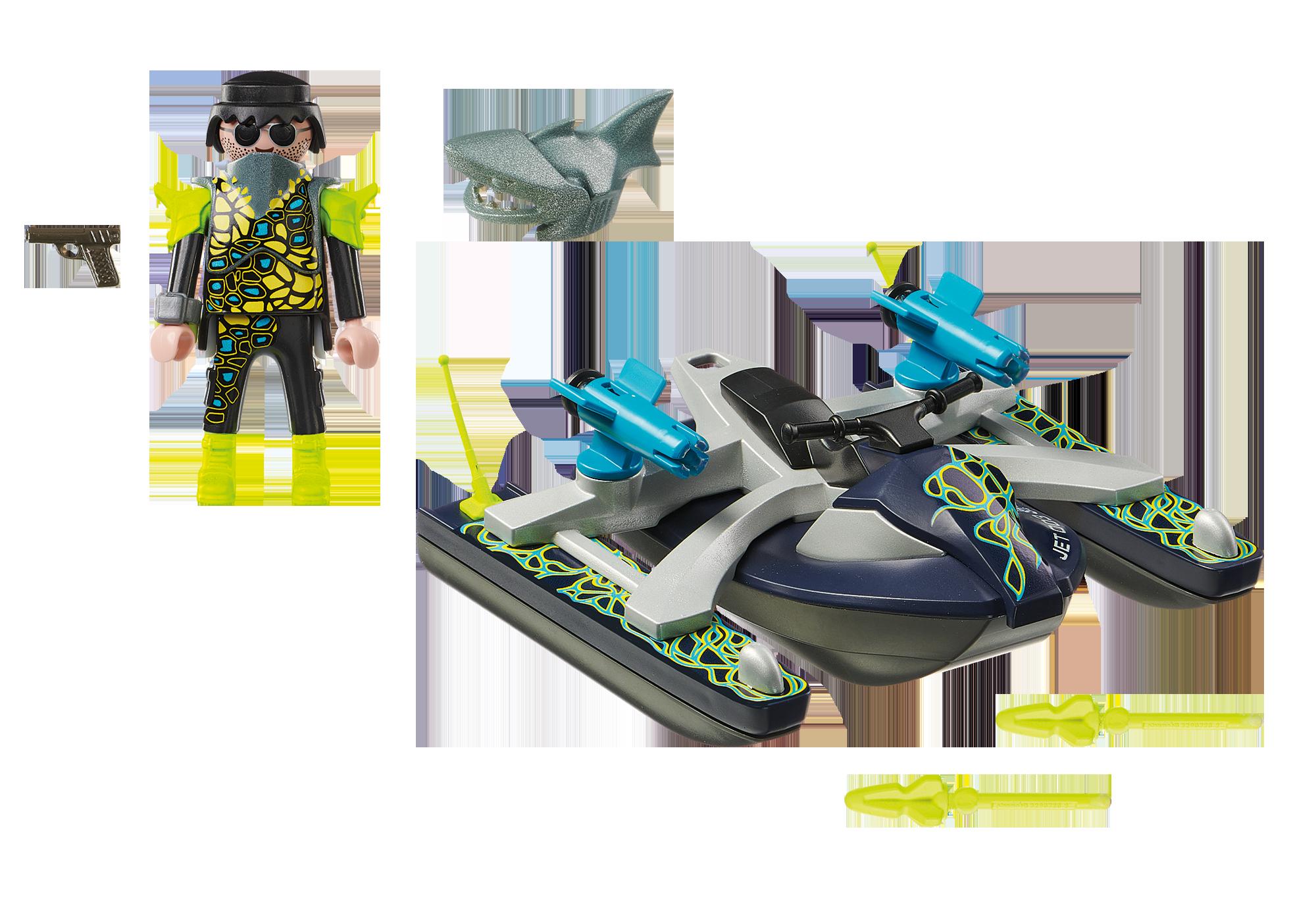 http://media.playmobil.com/i/playmobil/70007_product_box_back/TEAM S.H.A.R.K. Vandscooter med raketter