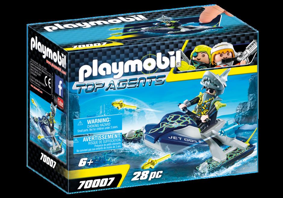 Playmobil Top Agents 70007 Moto d/'acqua con lanciarazzi del Team S.H.A.R.K Play