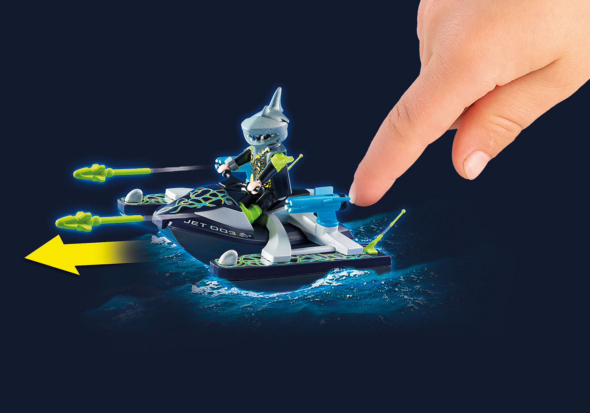 http://media.playmobil.com/i/playmobil/70007_product_extra1/TEAM S.H.A.R.K. Rocket Rafter