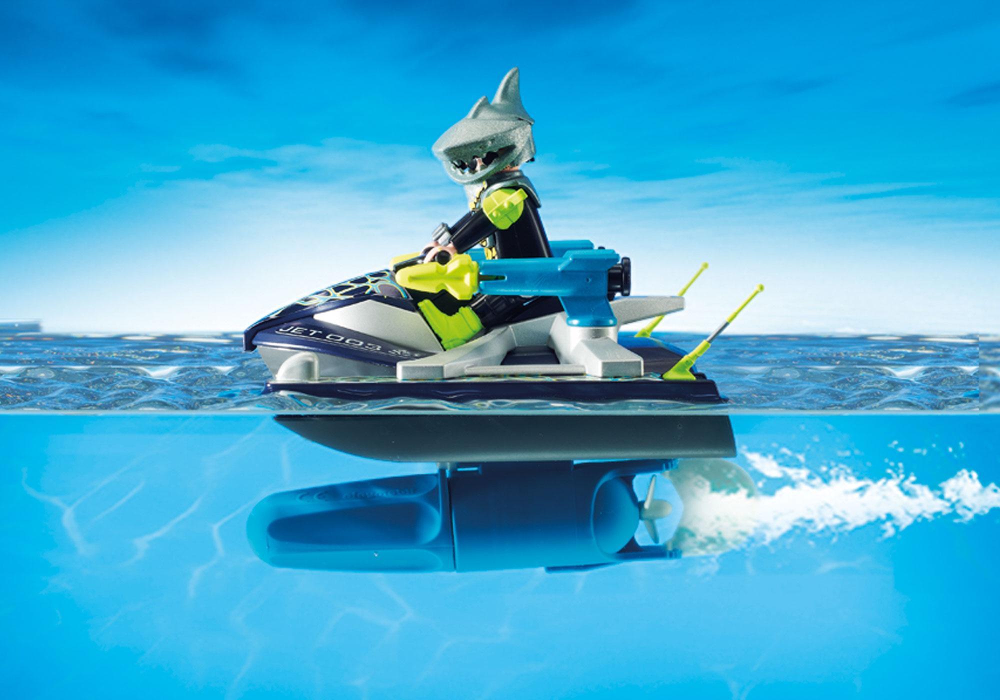 http://media.playmobil.com/i/playmobil/70007_product_extra2/TEAM S.H.A.R.K. Vandscooter med raketter