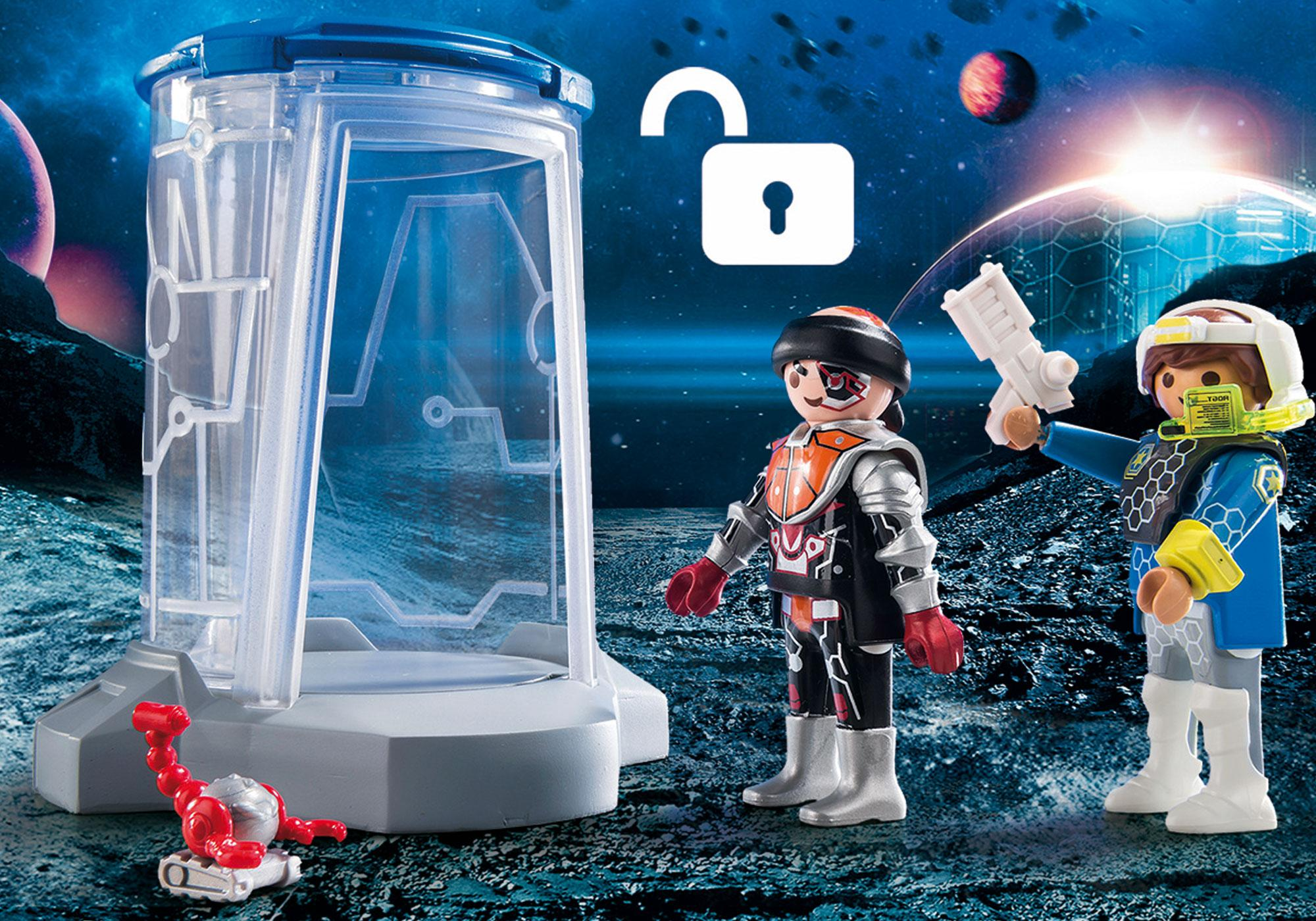 http://media.playmobil.com/i/playmobil/70009_product_extra1/SuperSet Galaxy Police Gefängnis