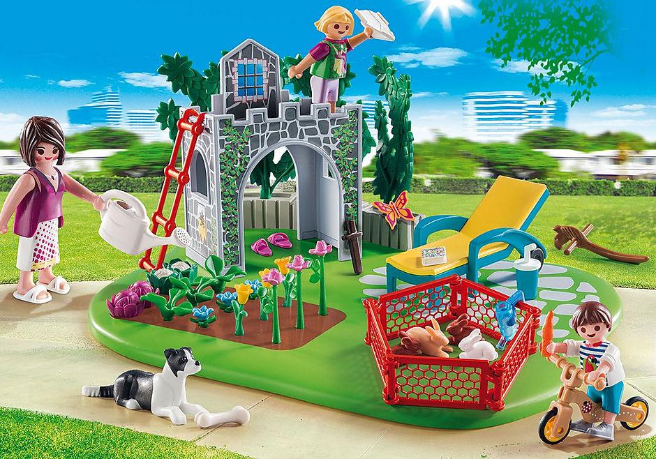 http://media.playmobil.com/i/playmobil/70010_product_detail/SuperSet Familjeträdgård