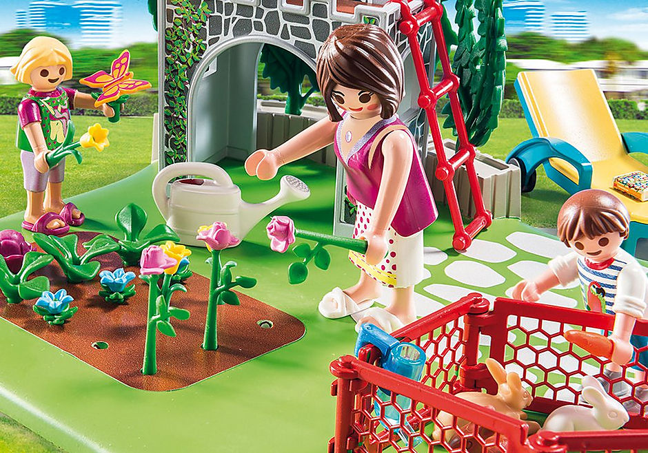 http://media.playmobil.com/i/playmobil/70010_product_extra1/SuperSet Familjeträdgård