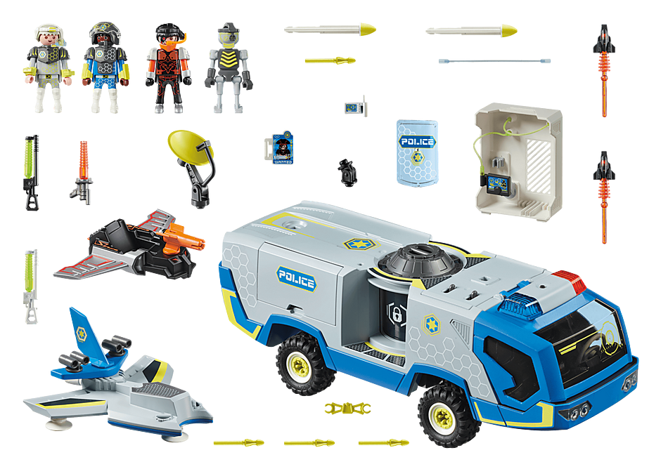 70018 Galaxy Police Truck detail image 3