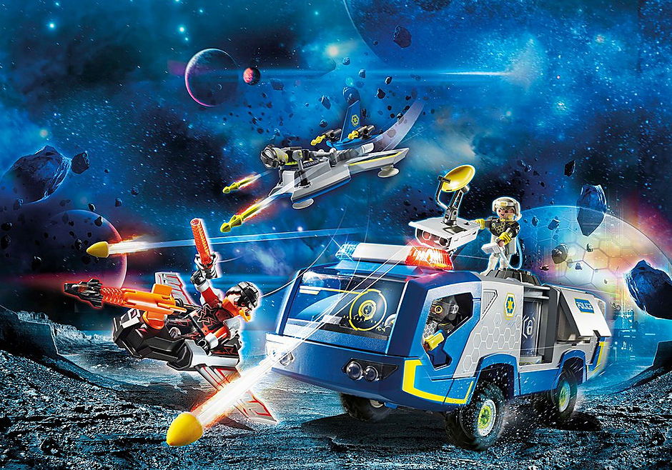70018 Galaxy Police Truck detail image 1