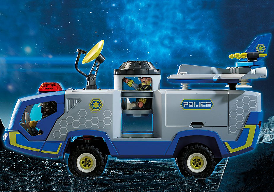 70018 Galaxy Police Truck detail image 5