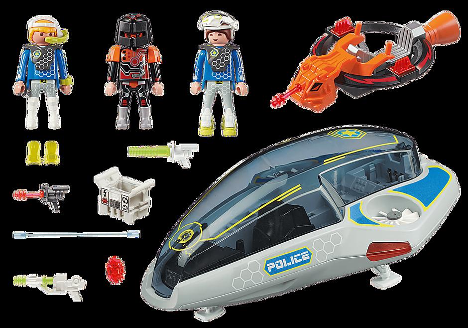 70019 Véhicule volant des policiers de l'espace  detail image 3