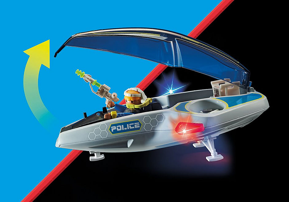 70019 Galaxy Police Glider detail image 5