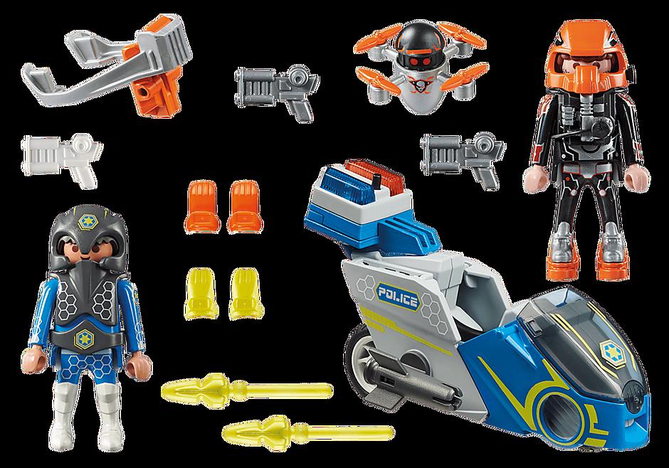 70020 Moto et policier de l'espace  detail image 3