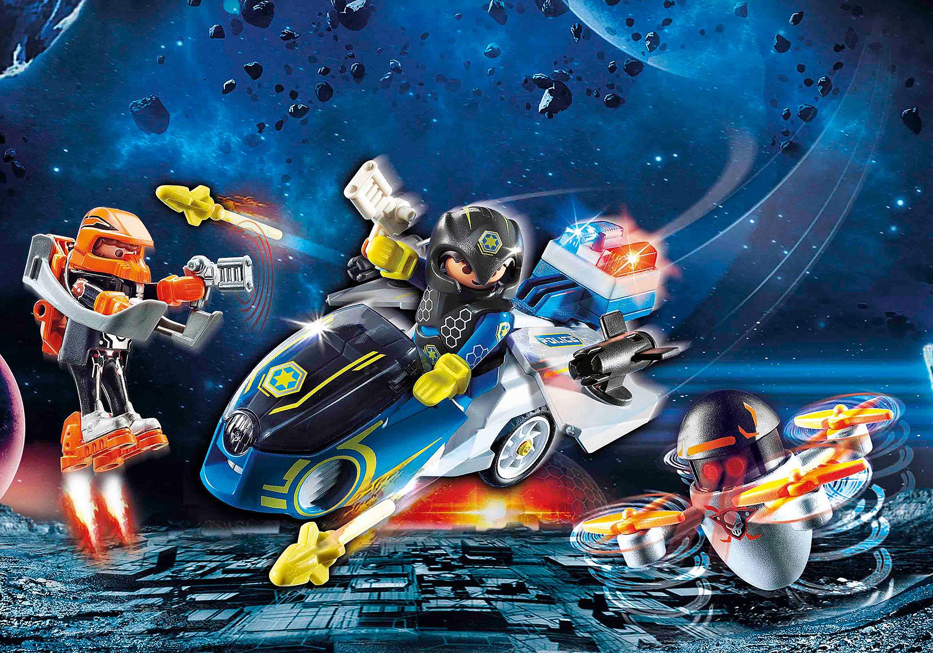 70020 Moto et policier de l'espace  zoom image1
