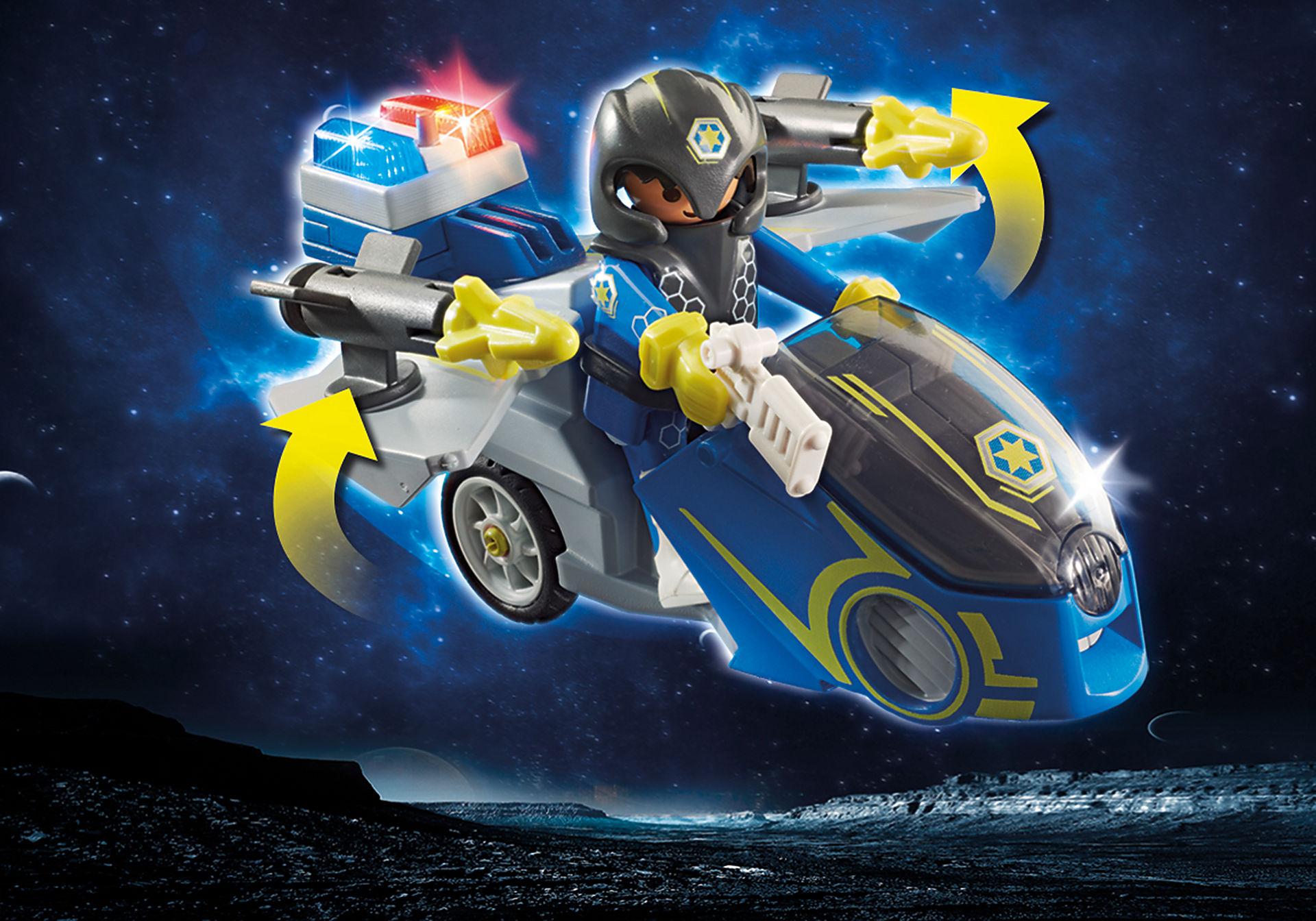 70020 Moto et policier de l'espace  zoom image4