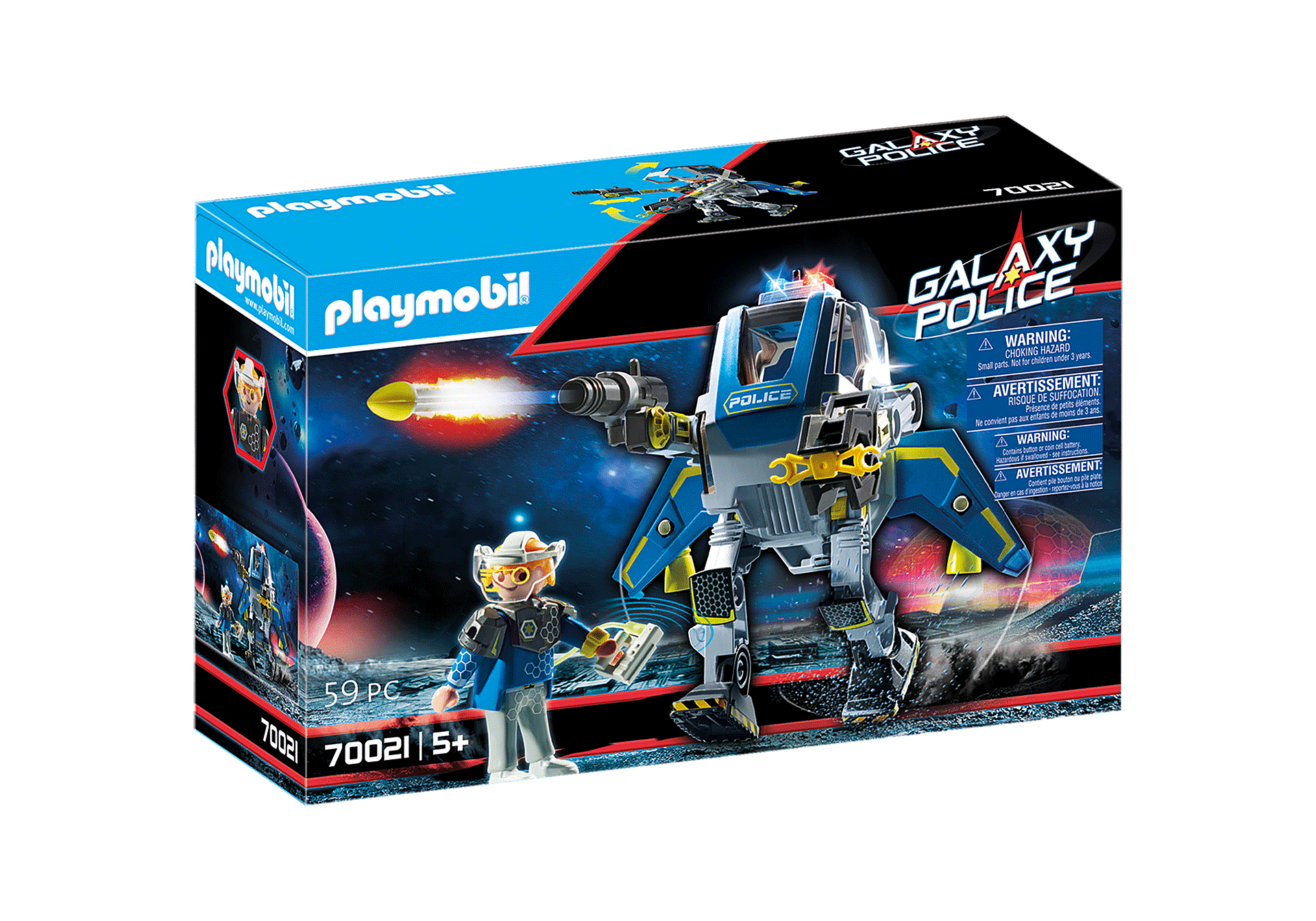 70021 Galaxy Police Robot zoom image2