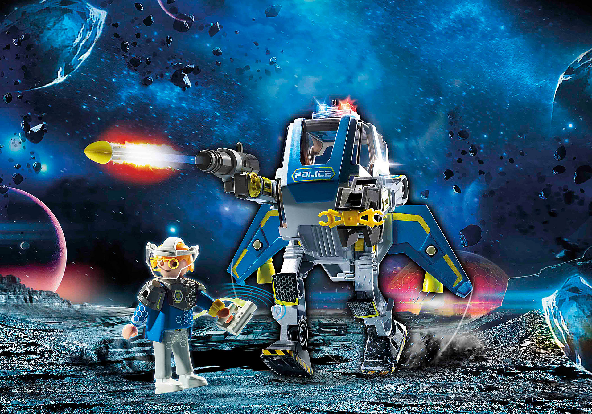 70021 Robot et policier de l'espace  zoom image1