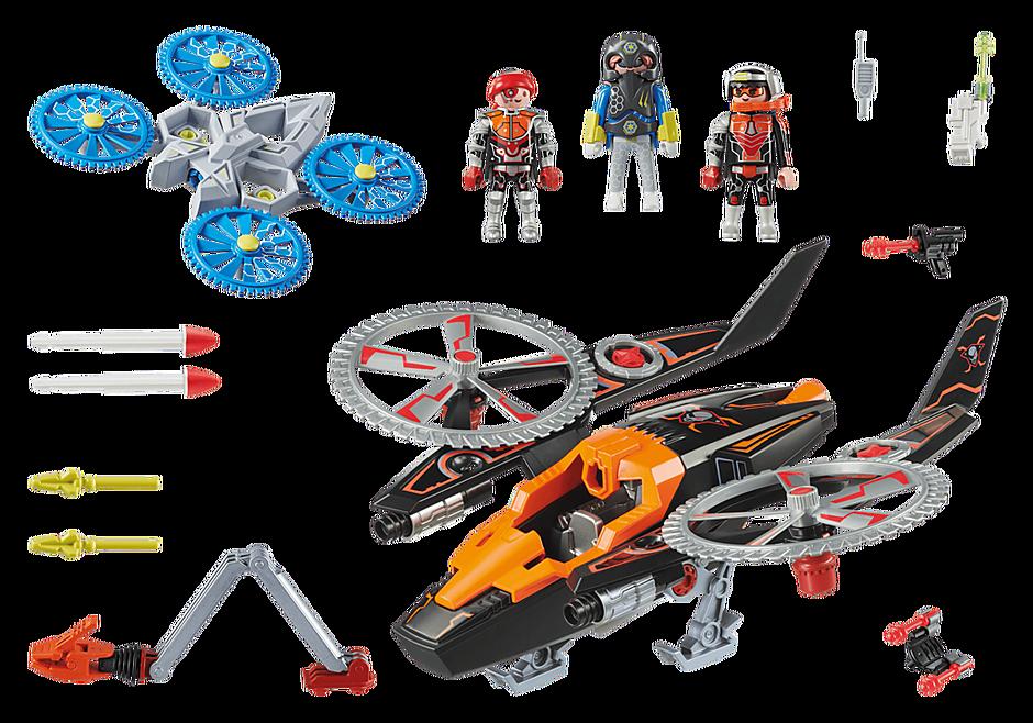 70023 Hélicoptère et pirates de l'espace  detail image 3