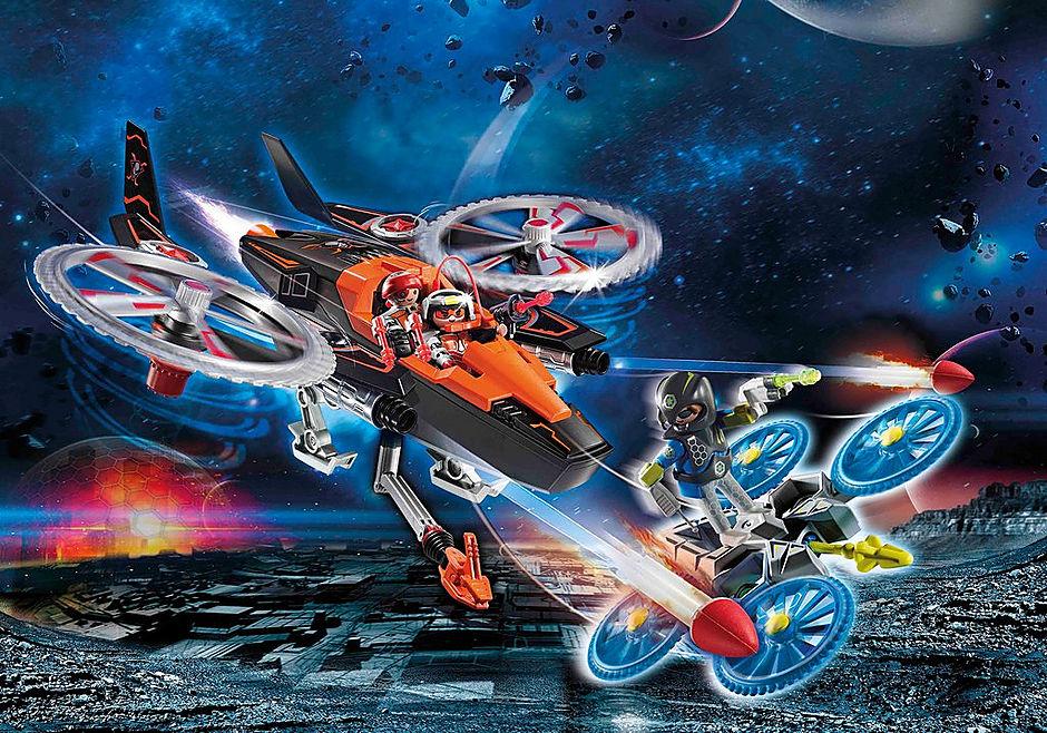 70023 Hélicoptère et pirates de l'espace  detail image 1