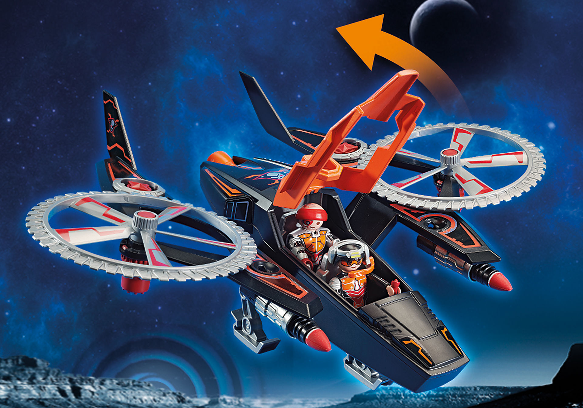 70023 Galaxy Pirates Helicopter zoom image6