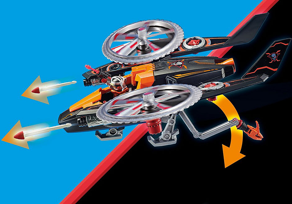 70023 Galaxy Pirates Helicopter detail image 8
