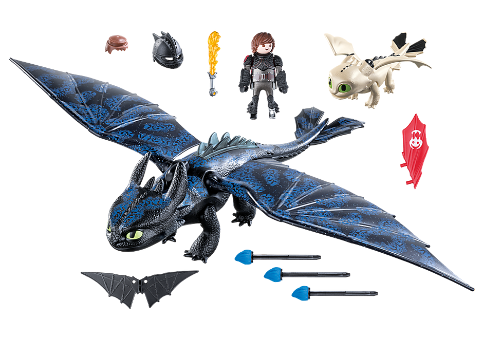70037 Hiccup and Toothless with Baby Dragon detail image 3