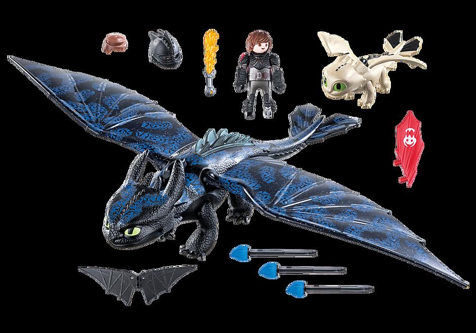 70037 Hiccup e Sdentato con Baby Dragon detail image 3