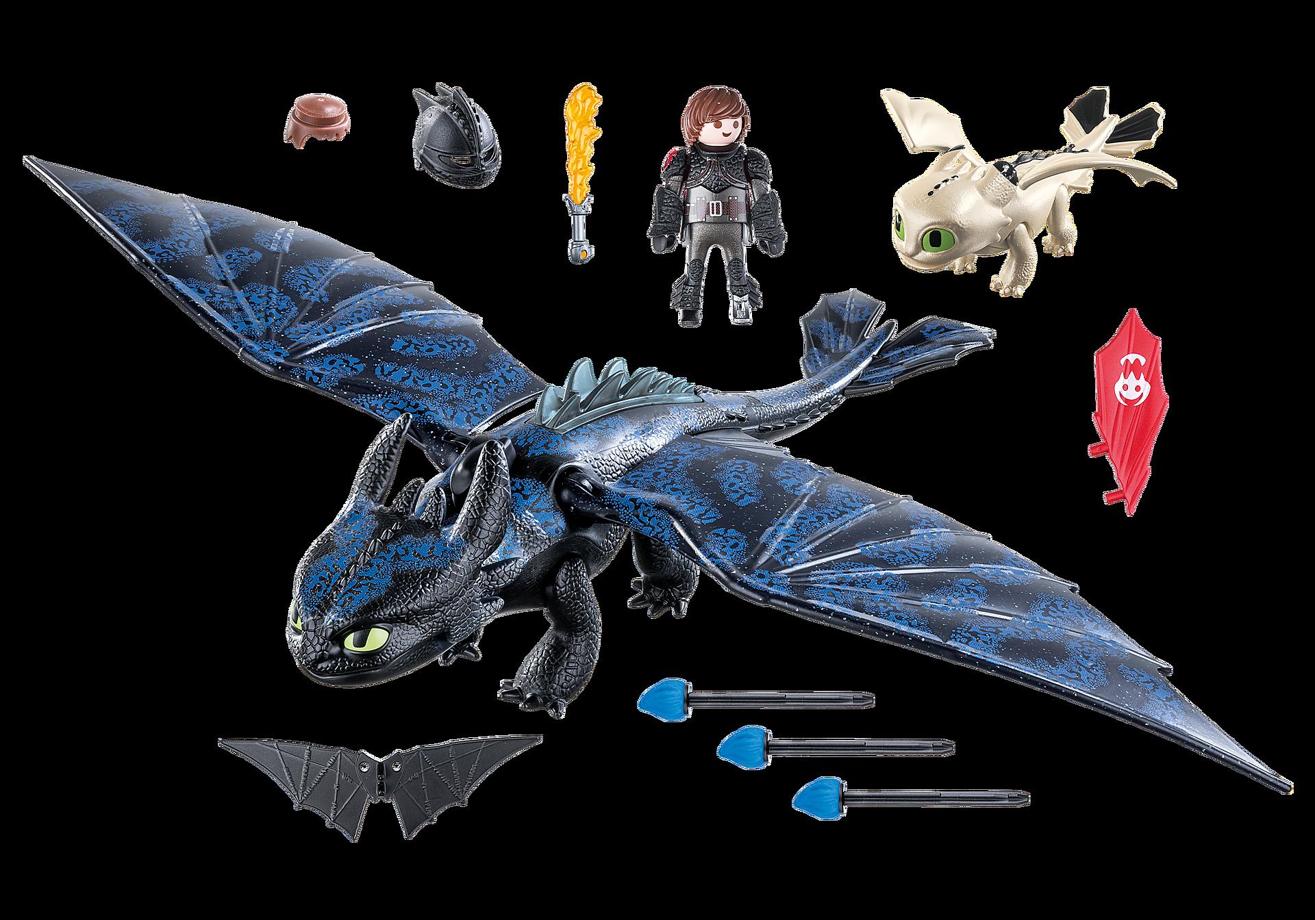 70037 Hipo y Desdentao con bebé dragón zoom image3