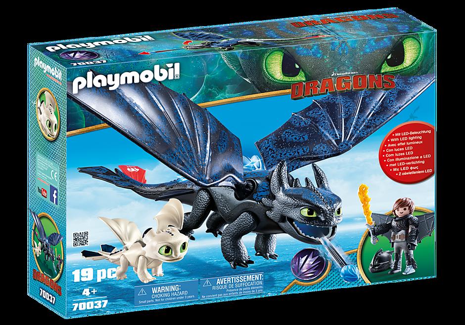 Krokmou Et Harold Avec Un Bébé Dragon 70037 Playmobil