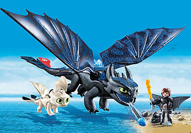 70037 Hiccup e Sdentato con Baby Dragon